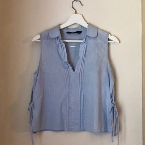 Zara Light Blue Tank